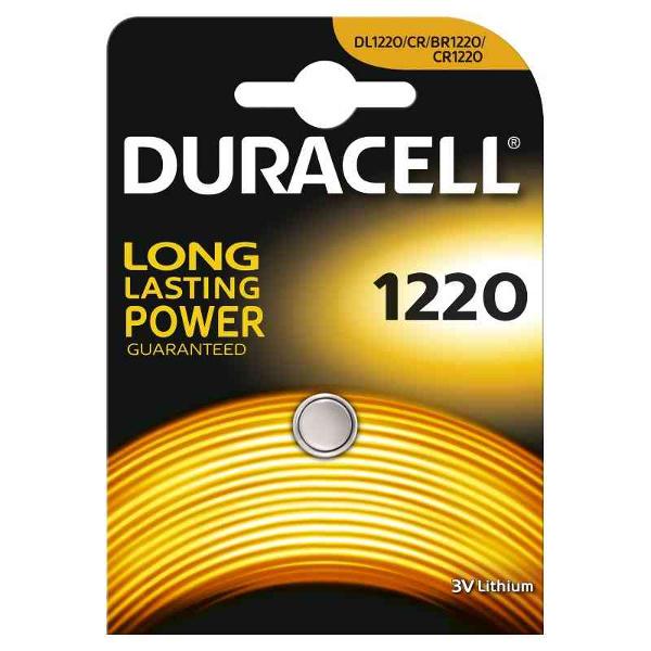 DURACELL DL1220/BR1220 LITHIUM CR1220 3V - BLISTER 1 BATTERIA MELDU30