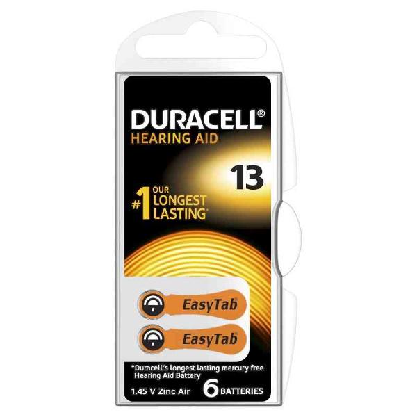 DURACELL DA13 DURACELL EASY TAB13 ARANCIO - BLISTER 6 BATTERIE MELDU80