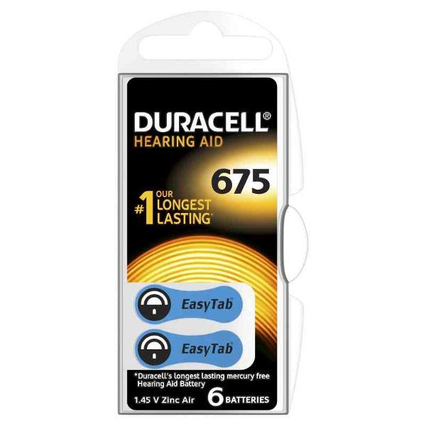 DURACELL DA675 DURACELL EASY TAB675 BLU - BLISTER 6 BATTERIE MELDU81
