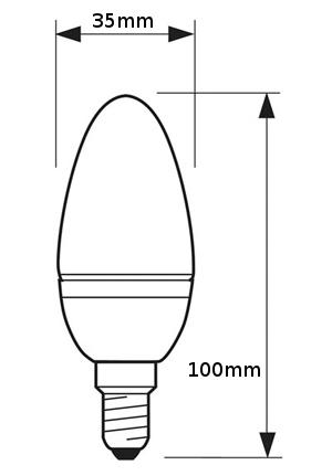 V-TAC VT-2033 LAMPADINA LED E14 3W BIANCO FREDDO A CANDELA LED7198