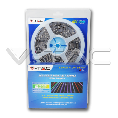 V-TAC  KIT STRISCIA 150 LED MULTICOLORE 5 METRI IMPERMEABILE LED2352