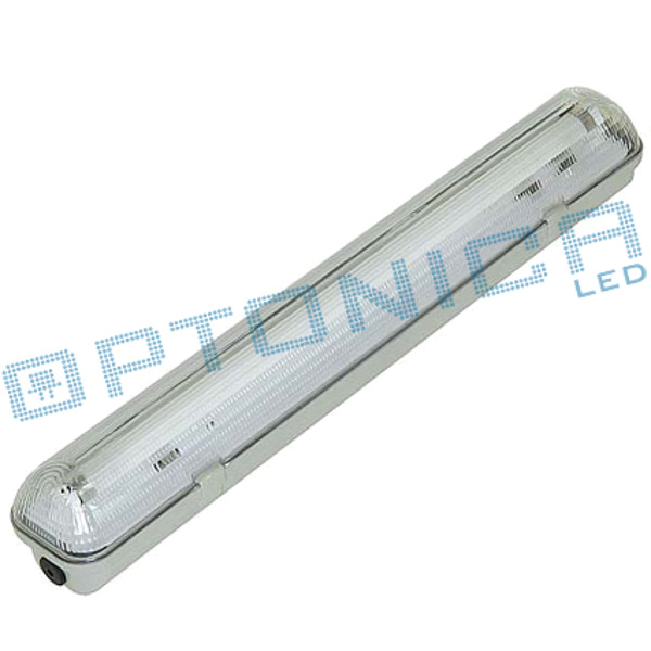 OPTONICA  PLAFONIERA PER n1 TUBO LED DA 60CM IMPERMEABILE LEDOT6650