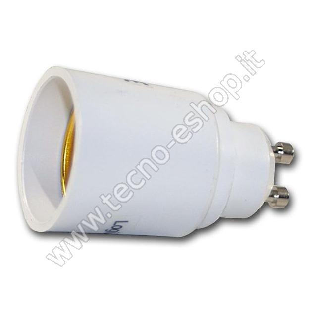 TECNO-ESHOP  ADATTATORE PER LAMPADINE DA GU10 A E27 MELPA1027