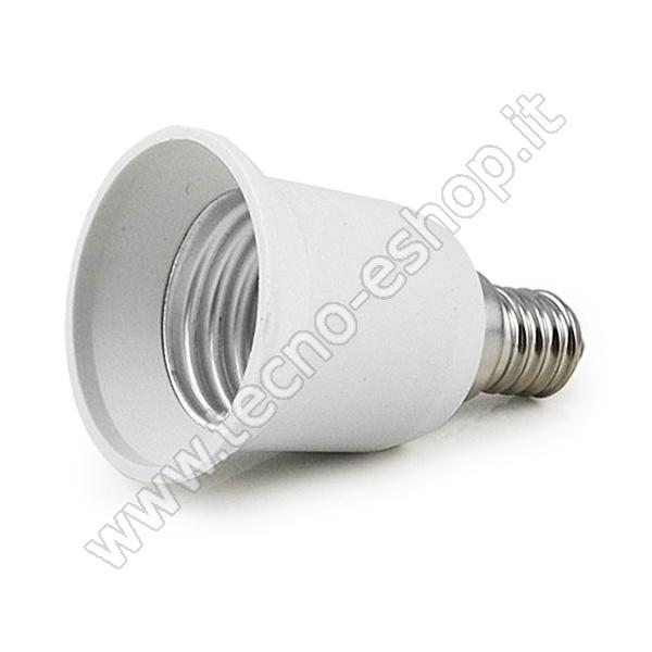 TECNO-ESHOP  ADATTATORE PER LAMPADINE DA E14 A E27 MELPA1427