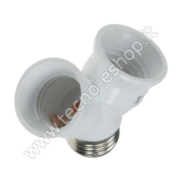 TECNO-ESHOP  SDOPPIATORE PER LAMPADINE  E27  MELPA2702