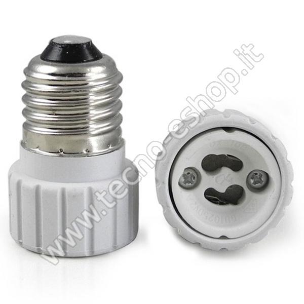 TECNO-ESHOP  ADATTATORE PER LAMPADINE DA E27 A GU10 MELPA2710