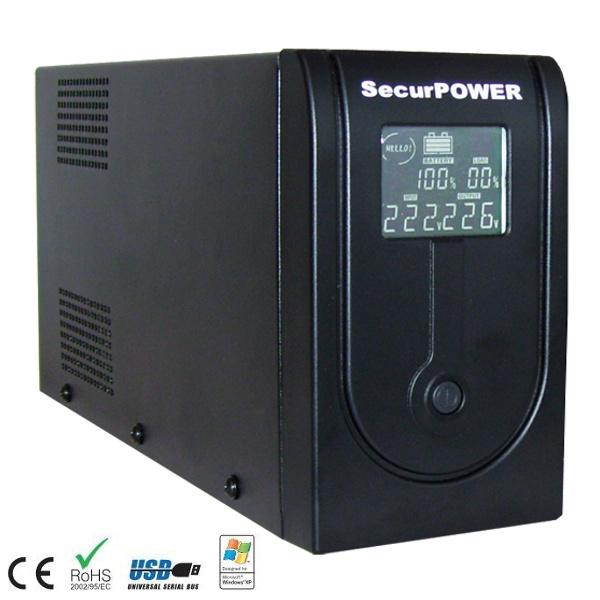 SECURPOWER PRX UPS 2000VA 4 POSTAZIONE LCD E USB UPSPRX2000