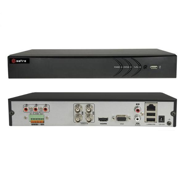 SAFIRE HTVR31 DVR 4 CAN. IBRIDO 5 IN 1 TURBO HD 720P A 25FPS ALLARMI VISHTVR3104A