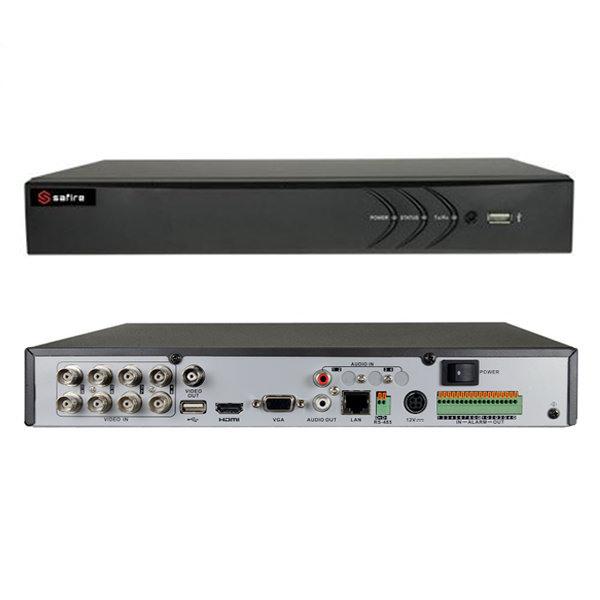 SAFIRE HTVR31 DVR 8 CAN. IBRIDO 5 IN 1 TURBO HD 720P A 25FPS ALLARMI VISHTVR3108A