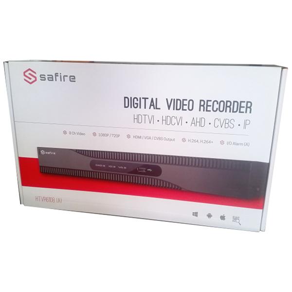 SAFIRE HTVR31 DVR 16 CAN. IBRIDO 5 IN 1 TURBO HD 720P A 25FPS ALLARMI VISHTVR3116A