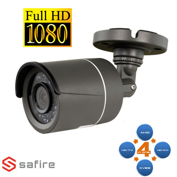 SAFIRE SF029 CAMERA BULLET AHD/TVI/CVI/ANALOGICA 18 IR 2MP ECO NERA VISSFCV029I-F4N1