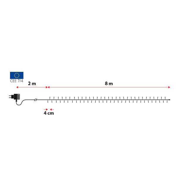 TECNO-NATALE LEDTLC CATENA 200 LED REFLEX CONTROLLER MEMORY BIANCO CALDO LEDX46122