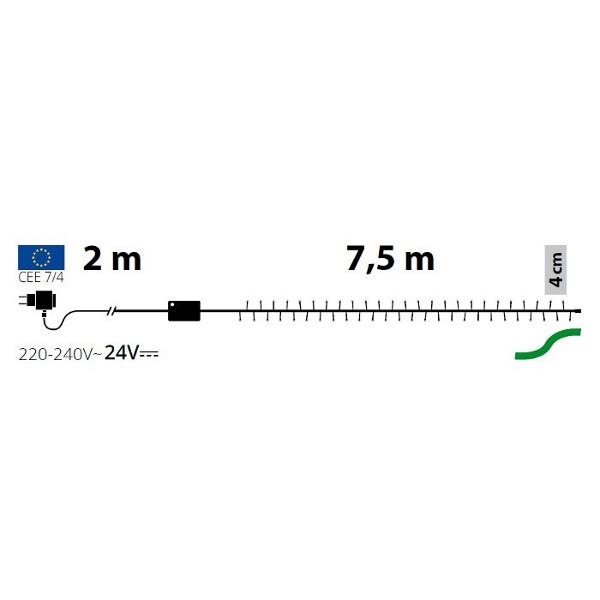 TECNO-NATALE LEDTLE CATENA 180 LED REFLEX CON CONTROLLER MULTIOCOLORE LEDX30831