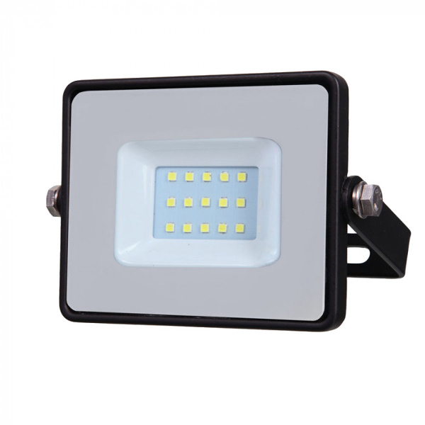 V-TAC VT-10 FARO LED 10W ULTRAS. BIANCO CALDO NERO CHIP SAMSUNG LED424