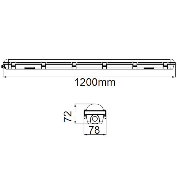 V-TAC VT-120036 PLAFONIERA LED 36W BIANCO NATURALE 1200CM SATINATA CHIP SAMSUNG LED20205