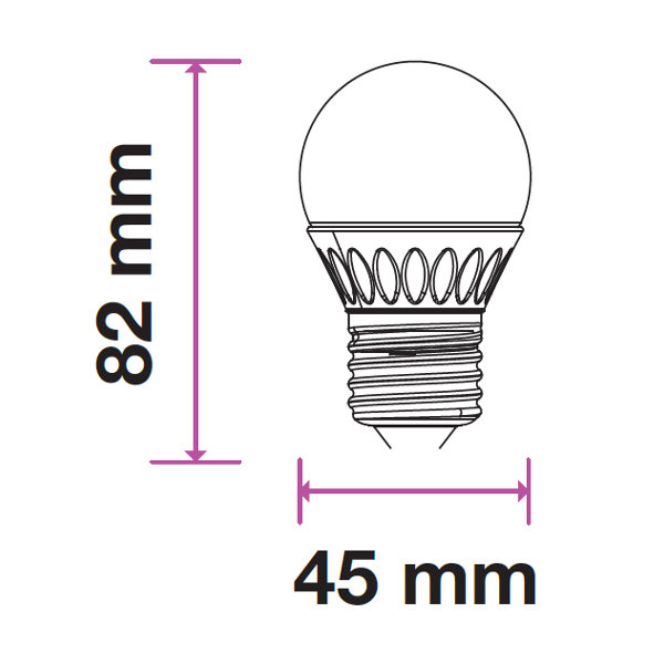 V-TAC VT-1879 LAMPADINA LED E27 5,5W BIANCO NATURALE LED7408