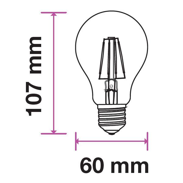 V-TAC VT-1885 LAMPADINA LED E27 FILAMENTO 4W BIANCO FREDDO 300 GRAD LED7120