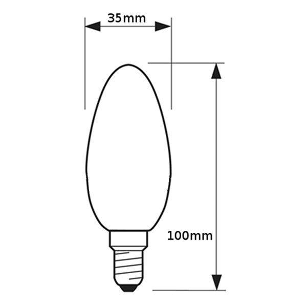 V-TAC VT-1986D LAMPADINA LED E14 4W FILAMENTO CALDA CANDELA DIMMERABILE LED4365