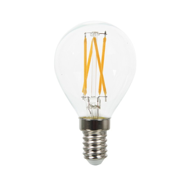V-TAC VT-1996 LAMPADINA LED E14 4W FIL. CROSS  BIANCO CALDO A BULBO LED43001