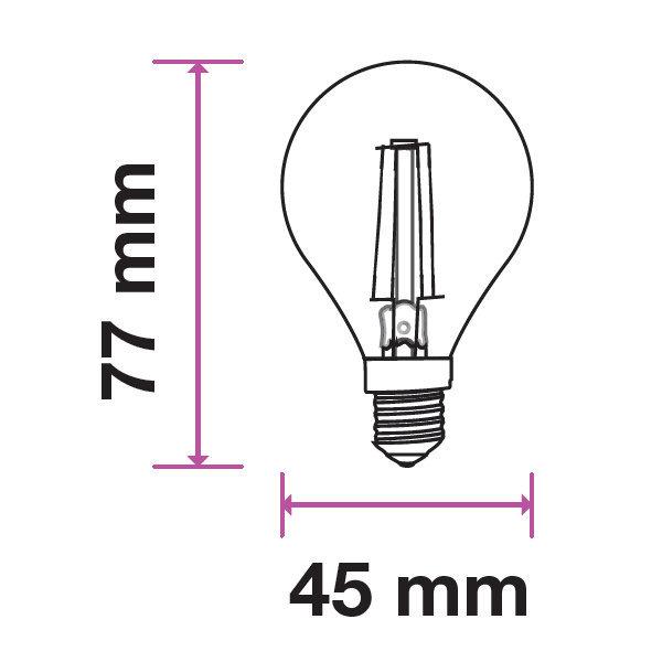 V-TAC VT-1996D LAMPADINA LED E14 4W FIL. BIANCO CALDO A BULBO DIMMERAB LED4394