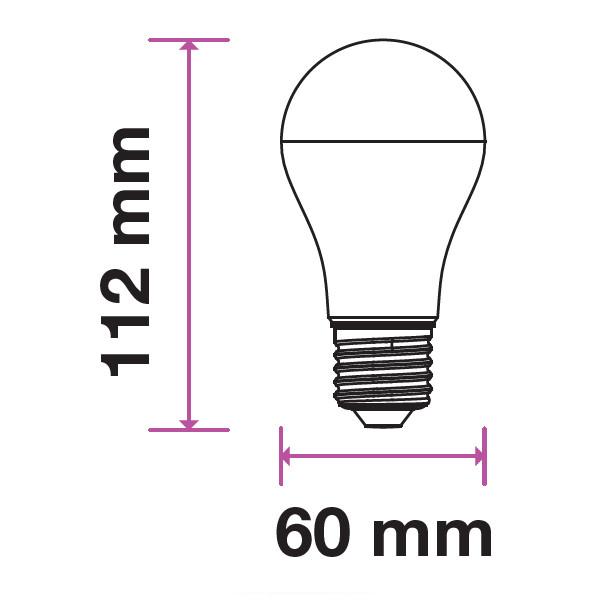 V-TAC VT-2099 LAMPADINA LED E27 9W BIANCO NATURALE LED7261