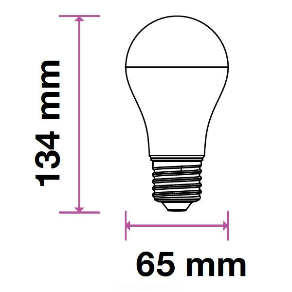 V-TAC VT-2017 LAMPADINA LED E27 A65 17W BIANCO NATURALE 200 GRADI  LED4457