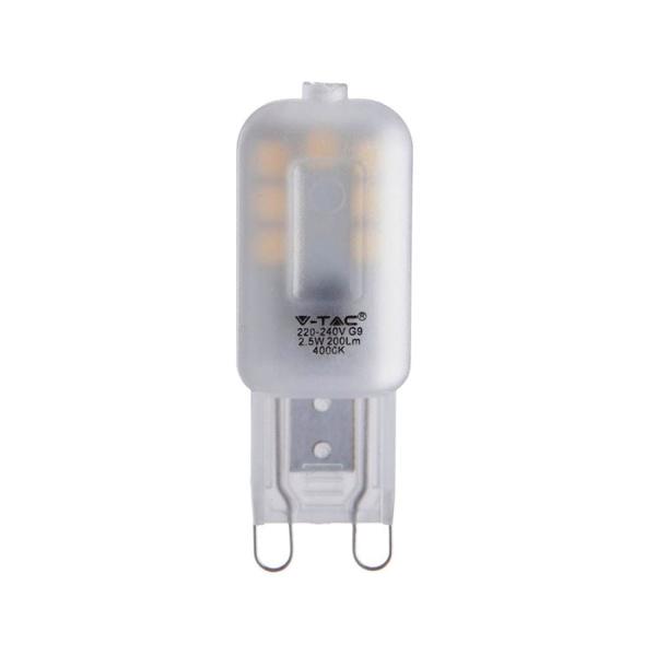 V-TAC VT-203 LAMPADINA LED G9 2,5W BIANCO CALDO CHIP SAMSUNG LED243