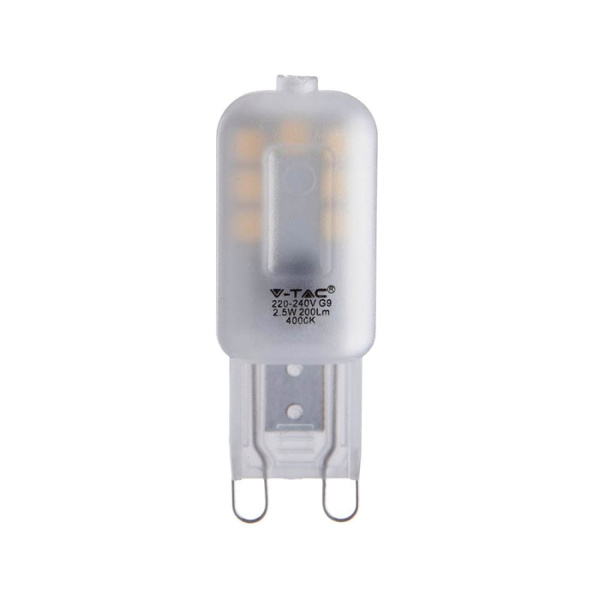 V-TAC VT-203 LAMPADINA LED G9 2,5W BIANCO NATURALE  CHIP SAMSUNG LED244