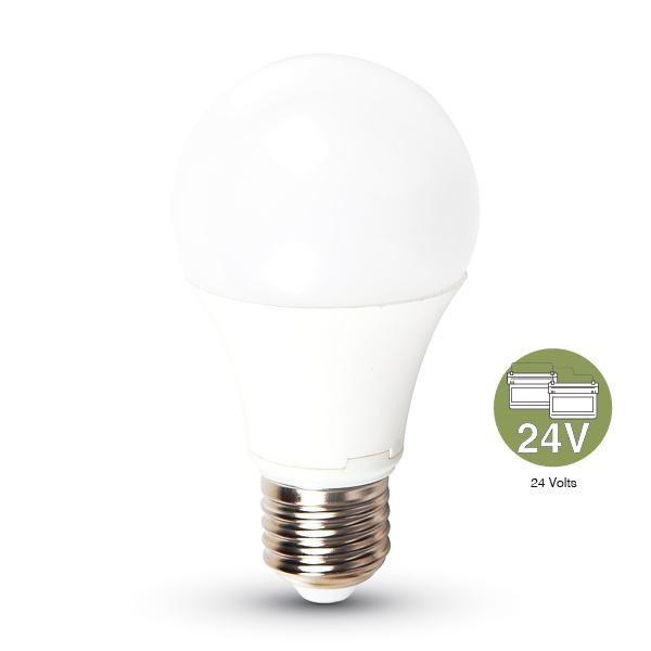 V-TAC VT-2059 LAMPADINA LED E27 9W BIANCO NATURALE 24VDC LED7417