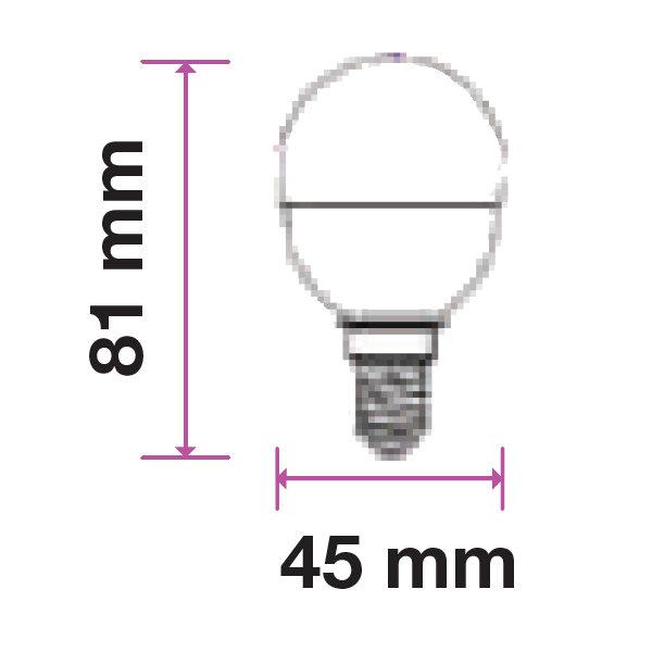 V-TAC VT-2156 LAMPADINA LED E14 5,5W BIANCO FREDDO A BULBO 3 PEZZI LED7359