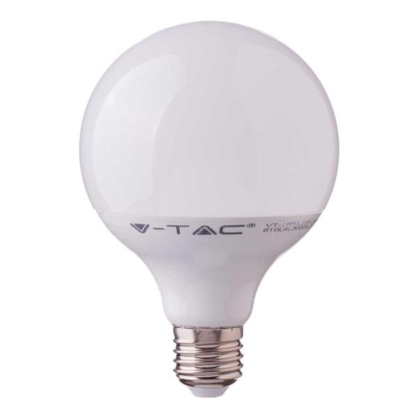 V-TAC VT-218 LAMPADINA LED GLOBO E27 G120 17W BIANCO CALDO CHIP SAMSUNG LED225