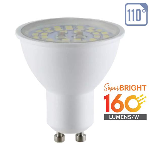 V-TAC VT-2335 LAMP. LED GU10 SMD 5W 110 GRADI BIANCO NATURALE 160 LUMEN WATT LED2838