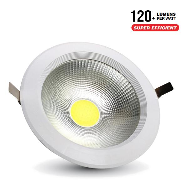 V-TAC VT-26401 FARETTO INCASSO 40W BIANCO FREDDO COB 4800LM LED1280