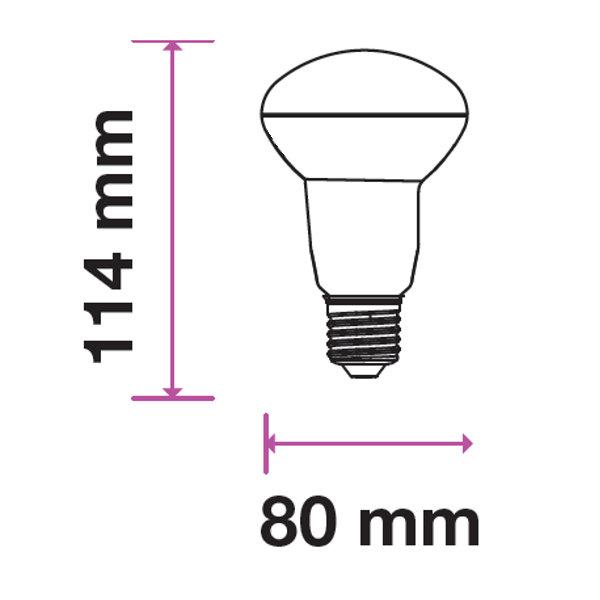 V-TAC VT-280 LAMPADINA LED E27 R80 10W BIANCO NATURALE CHIP SAMSUNG LED136