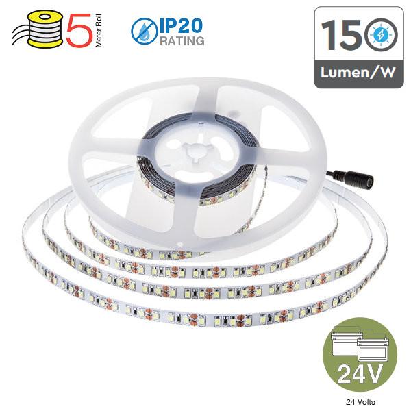 V-TAC VT-2835IP20-126 STRISCIA 630 LED B. NATURALE 5MT NO IMPEMEABILE 24V LED2594