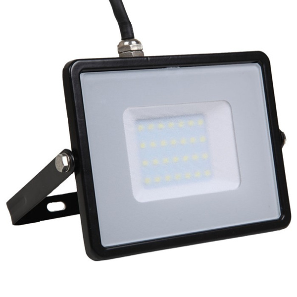 V-TAC VT-30 FARO LED 30W ULTRAS. BIANCO NATURALE NERO CHIP SAMSUNG LED401