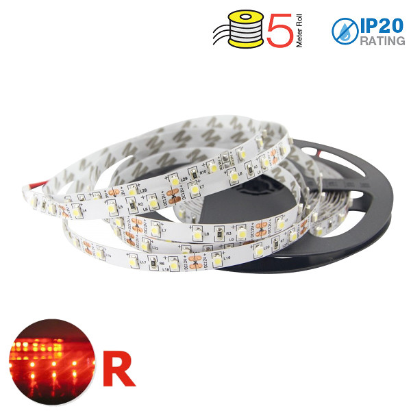 V-TAC VT-3528IP20300 STRISCIA 300 LED ROSSA 5 METRI NON IMPERMEABILE LED2015