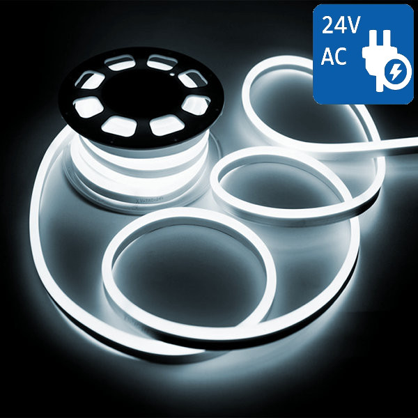 V-TAC VT-555 NEON FLEX 24V 1200 LED BIANCO FREDDO 10 METRI IMPERMEABILE LED2512