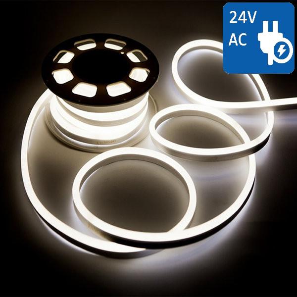 V-TAC VT-555 NEON FLEX 24V 1200 LED BIANCO NATURALE 10 METRI IMPERMEABIL LED2514