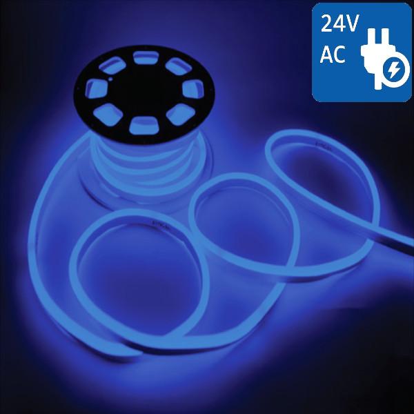 V-TAC VT-555 NEON FLEX 24V 1200 LED BLU 10 METRI IMPERMEABILE LED2515