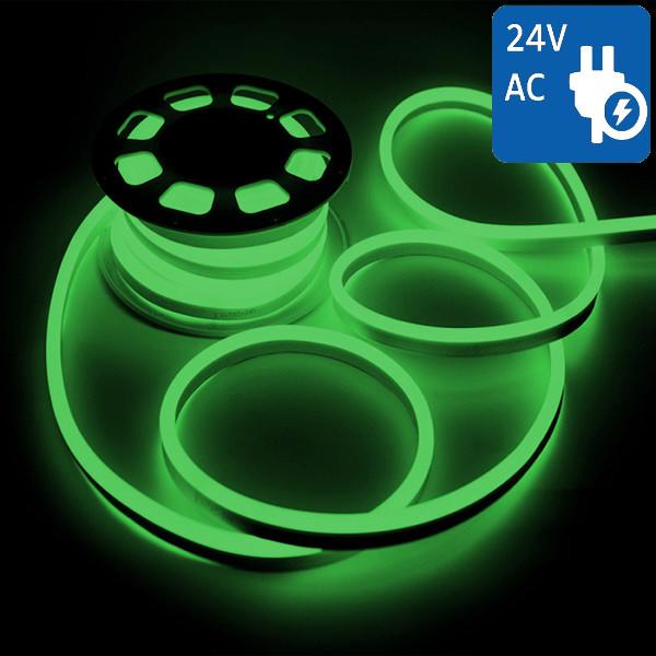 V-TAC VT-555 NEON FLEX 24V 1200 LED VERDE 10 METRI IMPERMEABILE LED2517