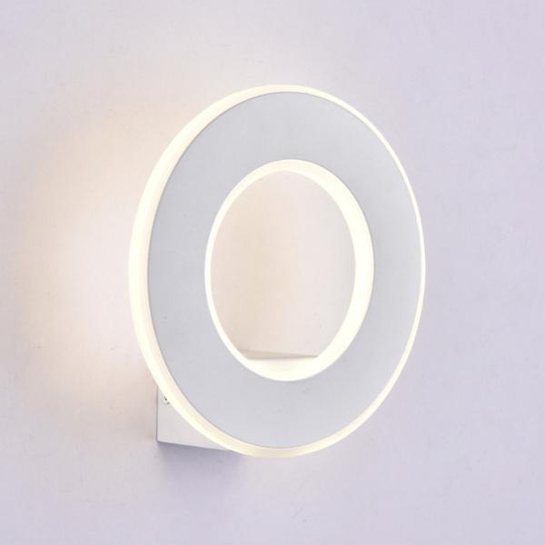 V-TAC VT-710 LAMPADA LED PARETE 9W CIRCOLARE BIANCO CALDO  BIANCA LED8225