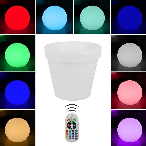 V-TAC VT-7808 LAMPADA LED 3W VASO D355 RGB RICARICABILE IP54 LED40211