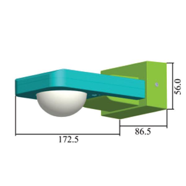V-TAC VT-8083 SENSORE MOVIMENTO E CREPUSCOLARE 20MT PARETE IP65 NERO LED15011