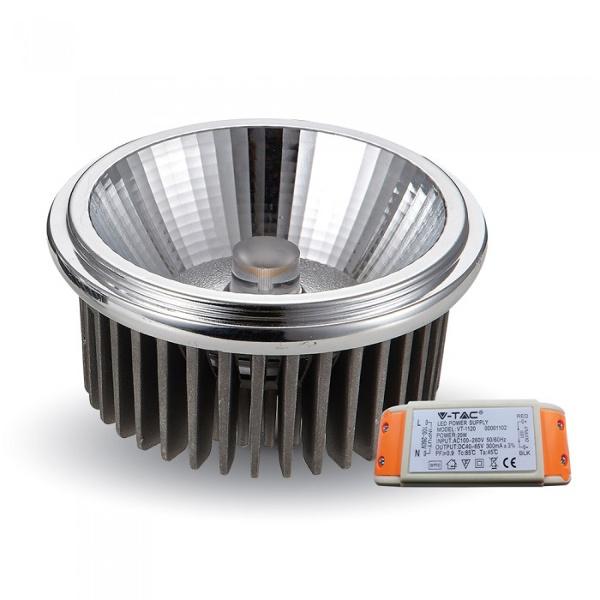 v-tac VT-1120 LAMPADINA LED AR111 20W 220V BIANCO NATURALE  20 GRADI LED1244