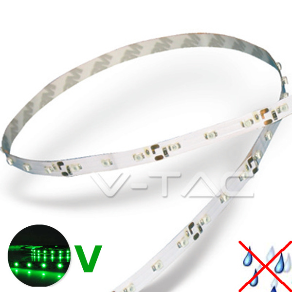 v-tac VT-3528IP20300 STRISCIA 300 LED VERDE 5 METRI NON IMPERMEABILE LED2011