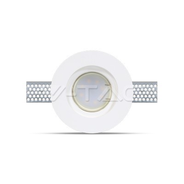 v-tac VT-771 PORTALAMPADA SPOT INCASSO TONDO IN GESSO LED3652
