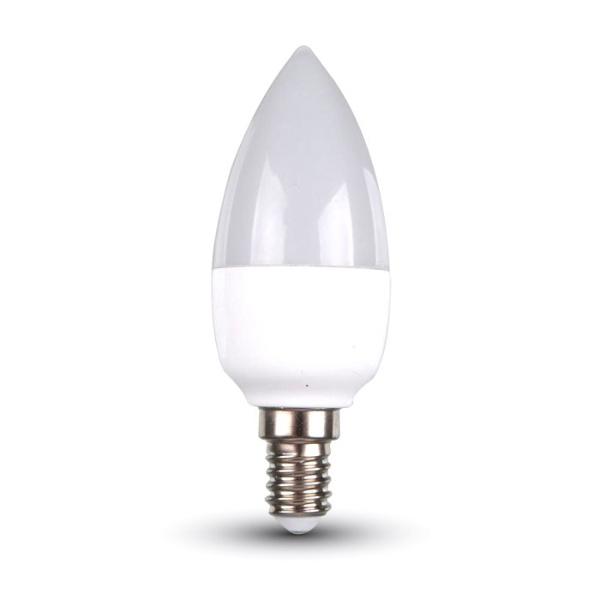 v-tac VT-1855 LAMPADINA LED E14 6W NATURALE A CANDELA LED4258