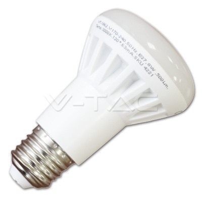 v-tac VT-1862 LAMPADINA LED E27 R63 8W BIANCO NATURALE SPOT LED4140