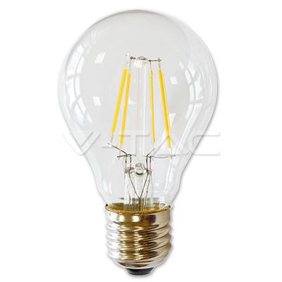 LAMPADINA LED E27 FILAMENTO 4W BIANCO CALDO 300 GRADI